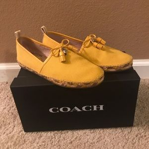"""Coach """"Madison"""" Canary colored flats"""
